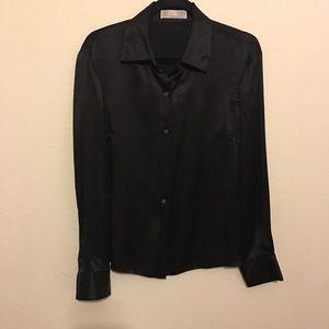 Black Micheal Kor long sleeve dress top